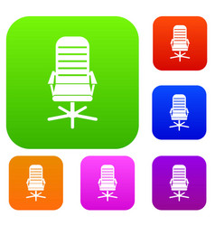 Office chair set collection vector