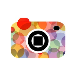 Abstract digital camera logo vector