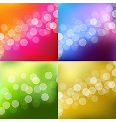 Color lights background with bokeh vector