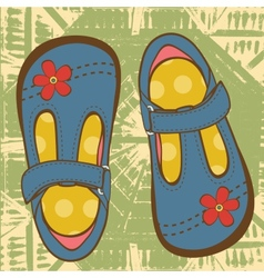Little girls shoes vector image
