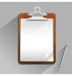 Brown clipboard vector