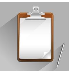 brown clipboard vector image