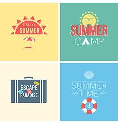 Hello summer set vector
