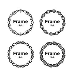 Beautiful and gentle minimalist round frames set vector