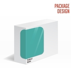 Cardboard package box vector