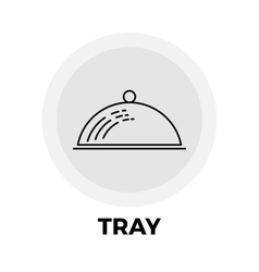 Tray line icon vector