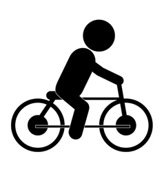 Bike riding pictogram icon vector