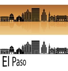 El Paso skyline in orange vector image
