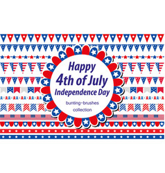 american independence day celebration in usa set vector image vector image