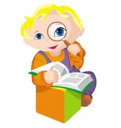 child scientific vector image vector image