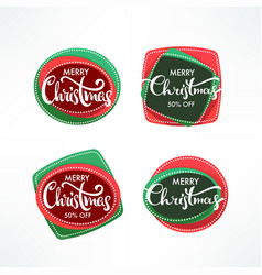 christmas sale banners label and stickers with vector image