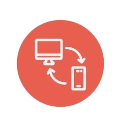 Computer mobile device and network connection vector
