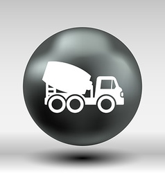 Concrete mixer icon button logo symbol concept vector