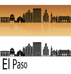 El Paso skyline in orange vector image vector image