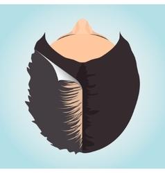 Female alopecia concept vector
