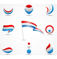 flags and icons of netherland vector image vector image