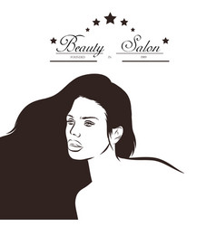 hair salon design with woman vector image