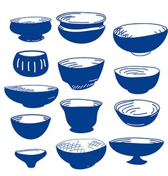 Hand drawn of cups vector image vector image