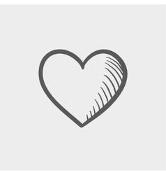 Heart sketch icon vector image