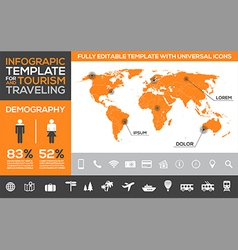 Infographic template for tourism and traveling vector