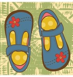 Little girls shoes vector