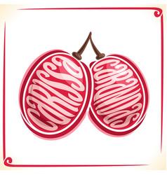 Logo for carissa carandas fruit vector