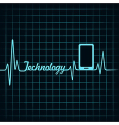 Medical technology concept -heartbeat smartphone i vector