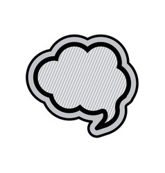 Monochrome cloud speech and black outline with vector