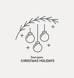 New Year Logo vector image