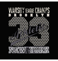New york typography athletic design graphic vector