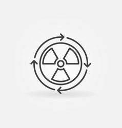 Nuclear power concept icon vector