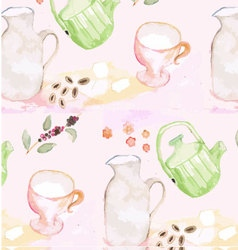 Patterned background watercolor painting vector