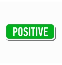 Positive green button icon simple style vector