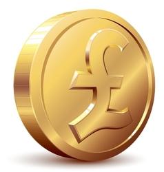 Pound coin vector