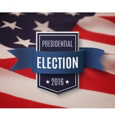 Presidential election 2016 poster template vector