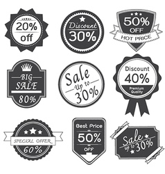 Promotion Stickers Labels Design vector image