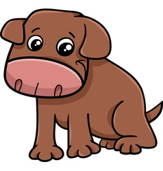 Puppy dog cartoon vector