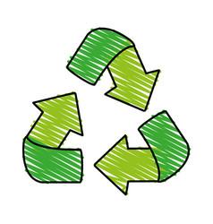 Recycle arrows icon image vector