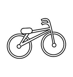 Retro bicycle style icon vector