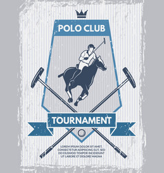 Retro poster of polo club template with vector