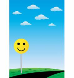 road smile sign vector image vector image