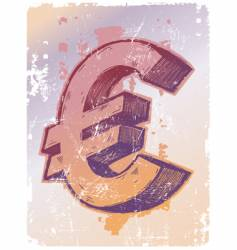 sign of euro vector image