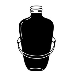 Silhoouette long mason jar with wire handle design vector