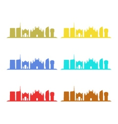 skyline milano vector image