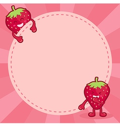 Strawberry character notes vector