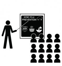 swine flu lecture vector image vector image