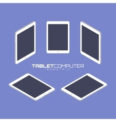 Tablet computer from four sides icon set vector image