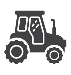 tractor glyph icon transport and vehicle vector image