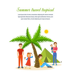 Travel - family trip to warm country recreation vector