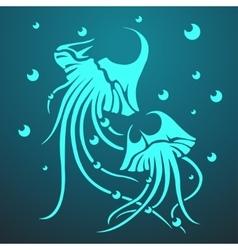 Two medusas vector